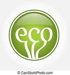 eco, verde, icono