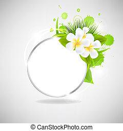 eco, verre, fleurs, bulle discours