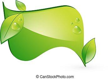 eco, vert, bannière