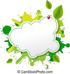 eco, vert, bulle discours