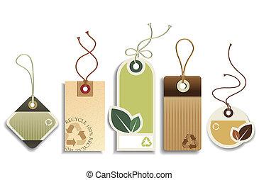 eco, verwerten wieder, etikette