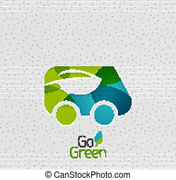 eco, voiture, conception abstraite, forme