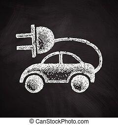 eco, voiture, icône