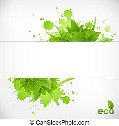 eco, vriendelijk, achtergrond