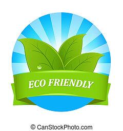 eco, vriendelijk, etiket