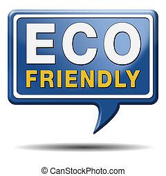 eco, vriendelijk, of, bio, meldingsbord