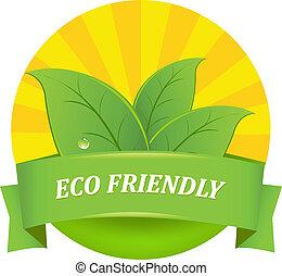 eco, vriendelijk, pictogram