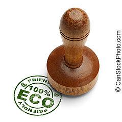 eco, vriendelijk, postzegel
