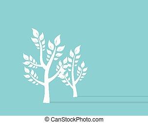 eco, wachstum, hintergrund, begriff, ttree