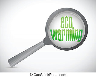 eco warming under review illustration design