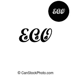eco -  white vector icon