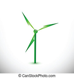 eco windmill illustration design