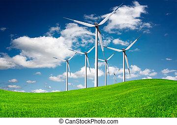 eco, windmolen, macht