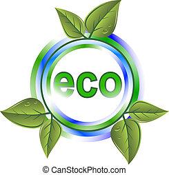 eco, zielony, ikona