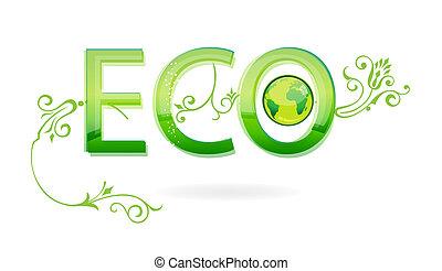 eco, zielony, znak