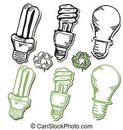 Eco_friendly light bulb Icons
