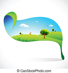 Ecofriendly Landscape - illustration of ecofriendly...