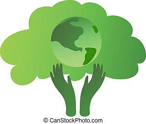 ecológico, árvore