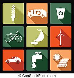 ecológico, ícones
