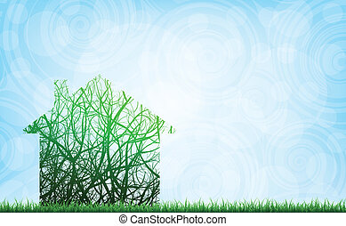 ecológico, casa
