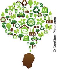 ecológico, consciência