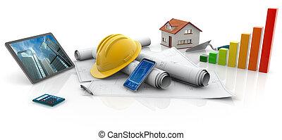 ecológico, construções