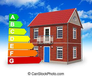 ecológico, construcción, concepto