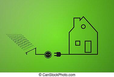 ecológico, electricidad