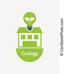ecológico, mente, desenho