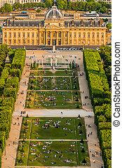 ecole militaire, paryż, miasto, francja