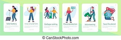 ecología, basura, idea, clasificación, energy., reciclaje, concept., alternativa