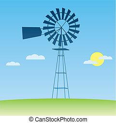 ecología, concept:, wind-driven