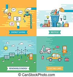 ecología, plano, diseño
