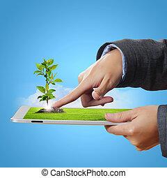 ecología, tecnología, protección
