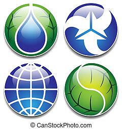 ecologi icons vector set