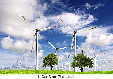 ecologia, alimentazione vento