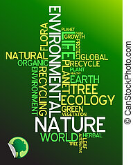 ecologia, -, ambiental, cartaz