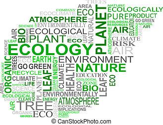 ecologia, etiquetas, nuvem