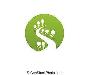 ecologia, foglia, natura, elemento, andare, vettore, verde, icona