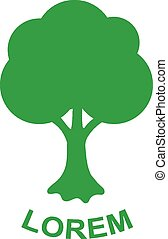 ecologia, natura, albero, verde, vettore, disegno, logotipo, template., pianta