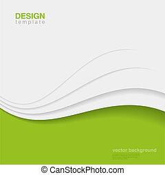 ecologia, vector., eco, astratto, creativo, disegno, fondo