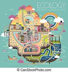 ecologia, vita urbana, scenario