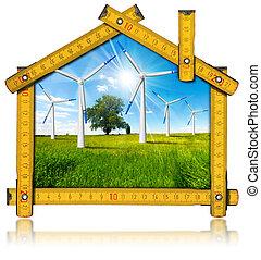 Ecologic House - Wind Energy Concept