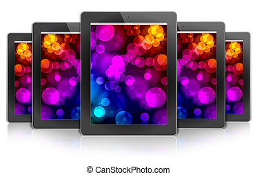 ecologic ipad design tablet PC, background bokeh color