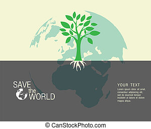Ecological and save the world green