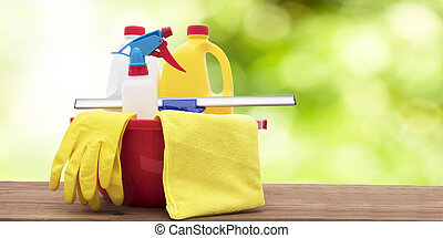 ecological cleaning products with the environment