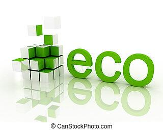 Ecological concept. 3d render