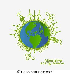 renewable energy. alternative energy sources.