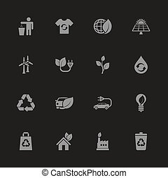 Ecological - Flat Vector Icons