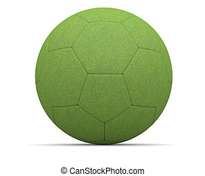 Ecological football isolated